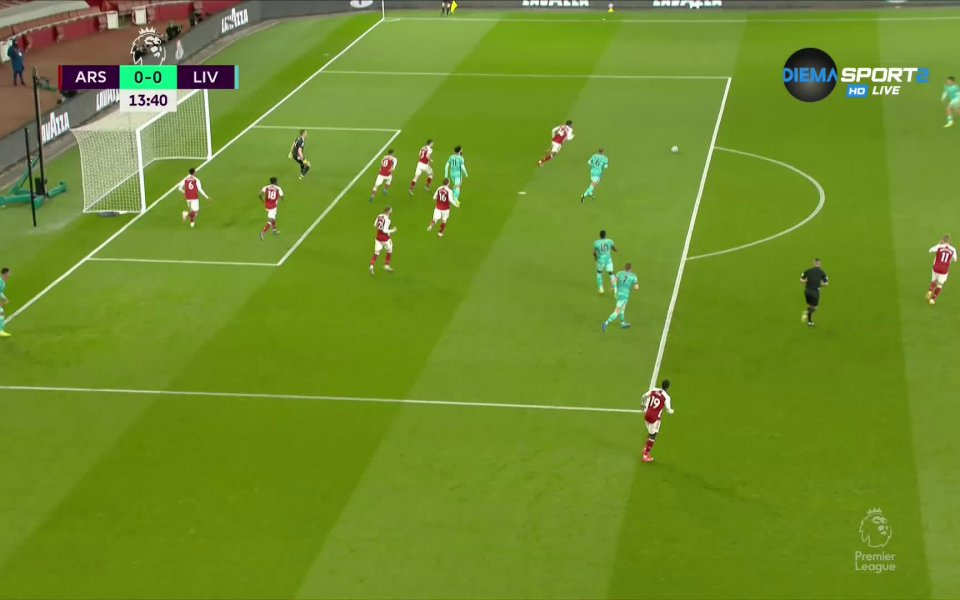 Арсенал и Ливърпул играят при резултат 0:0в голямото дерби на