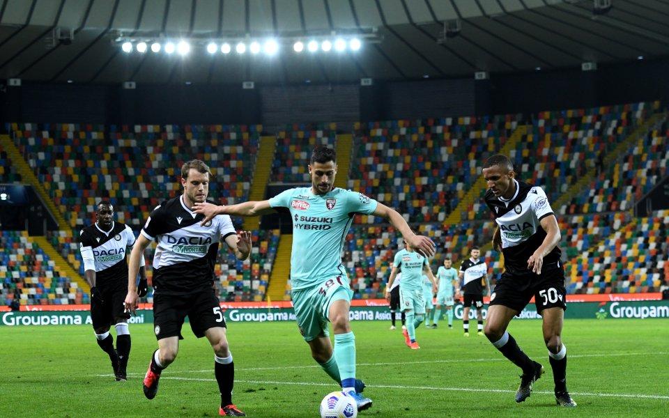 Торино изстрада успех срещу Удинезе като гост