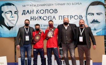 Красен Кралев награди победителите на турнира по борба