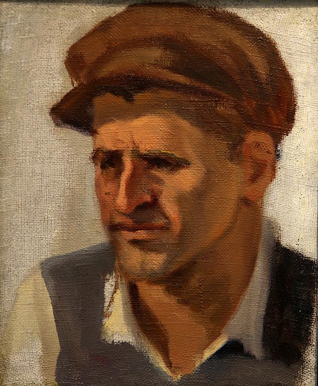 <p>Мъж с каскет</p>