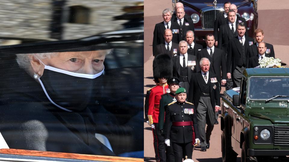 колаж погребение принц Филип