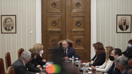 Консултации на президента Радев с
