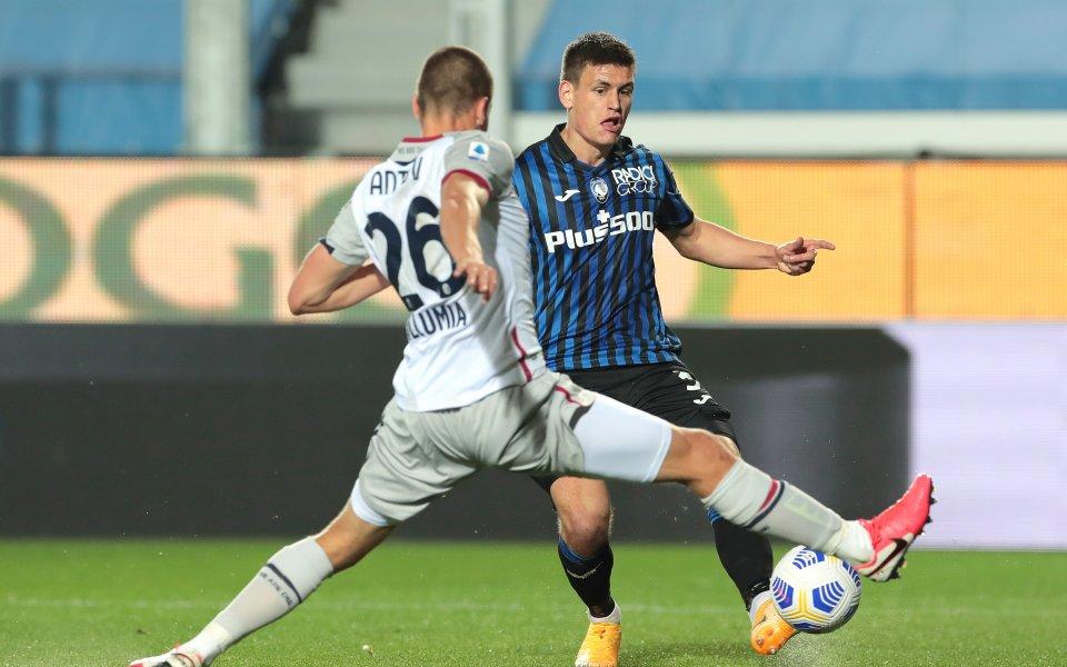 Отборите на Аталанта и Болоня играят при резултат 2:0 в