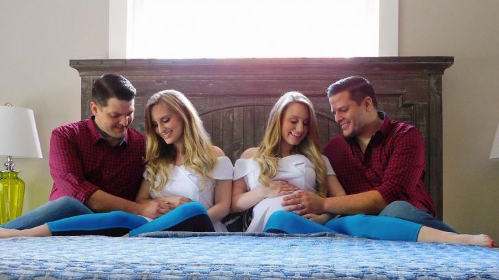Еднояйчните близначки, омъжени за еднояйчни близнаци, станаха майки