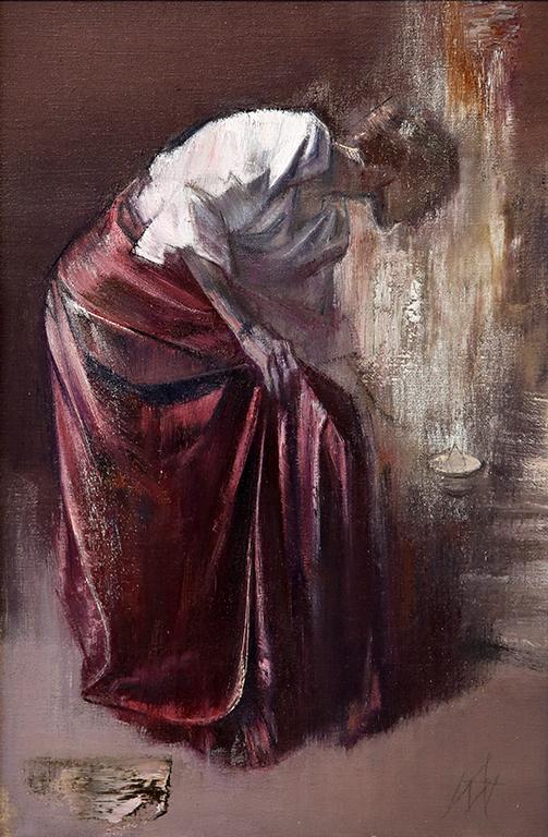 <p>При Десислава то е в изпълнените с мистична светлина, спокойствие и тишина, вглъбени в себе си портрети и интериори, в трептенето на сумрака, в който потъват или се осветяват от свещта образите.</p>