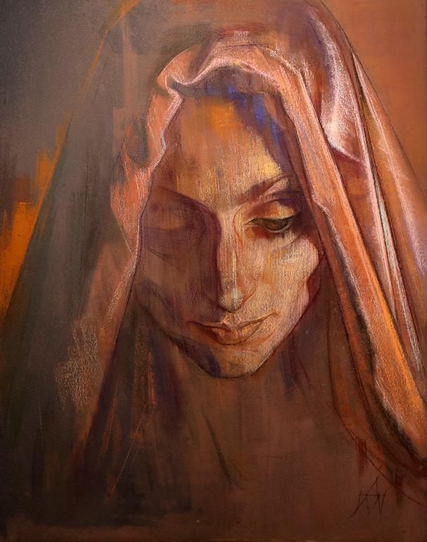 <p>Самотност трябва и за да усетиш и уловиш светлината, която прошарва гънките на дрехите, скрива се в сенките на драпериите, в браздите на времето по лицето в пастелите на Десислава Минчева.</p>