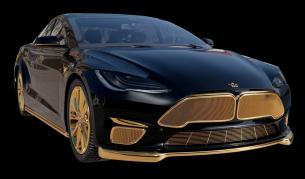 <p>Предозиране: 24-каратова златна баня за Model S</p>