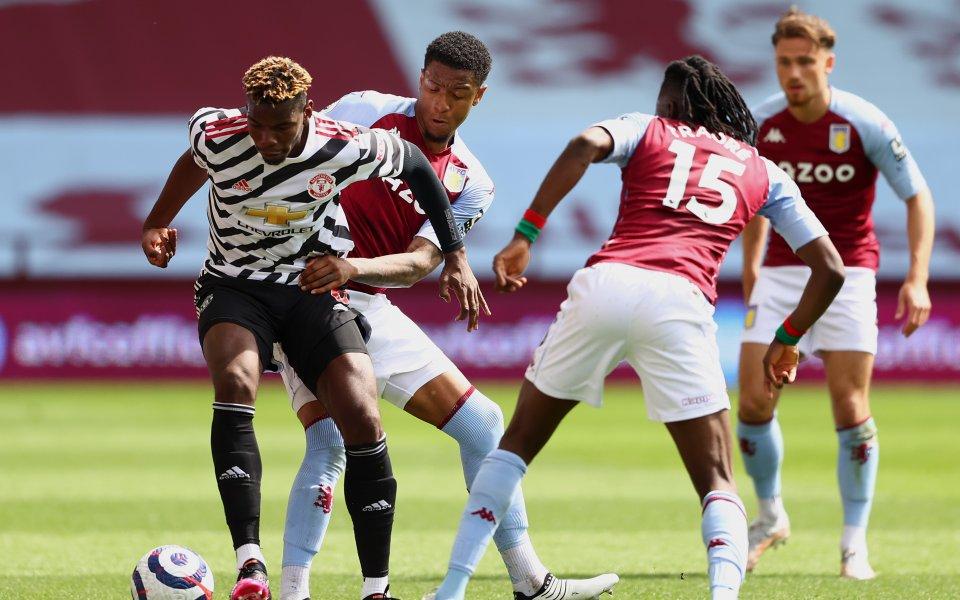 Астън Вила и Манчестър Юнайтед играят при 1:1във втория неделен