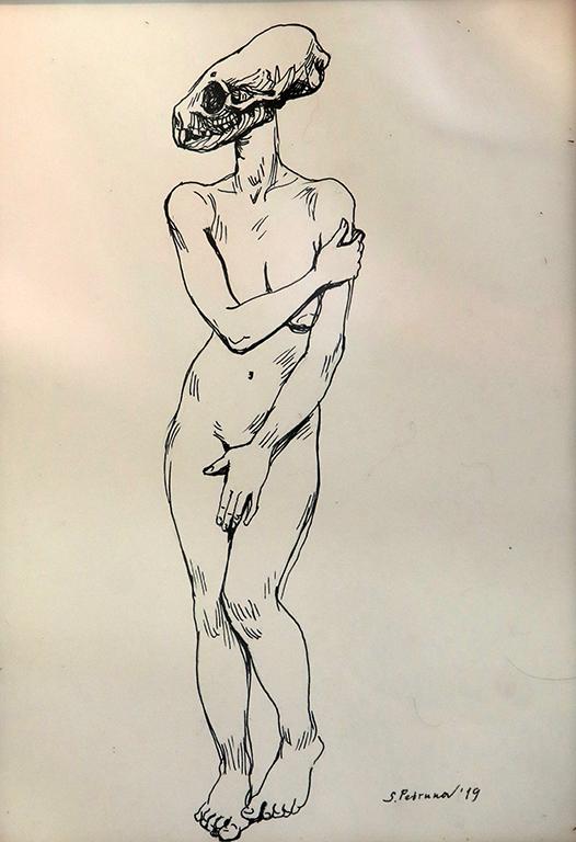 <p>Хибрид IV- рисунка, туш</p>