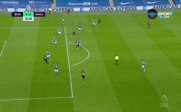 Брайтън - Уест Хем Юнайтед 0:0 /първо полувреме/