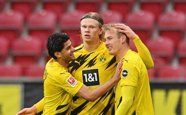 Борусия Дортмунд спечели място в Шампионската лига след буреносен мач с Майнц