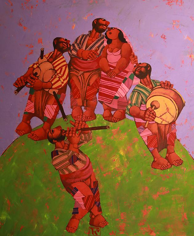 <p>Сватба, 2000 &ndash; 2010 маслени бои, платно</p>