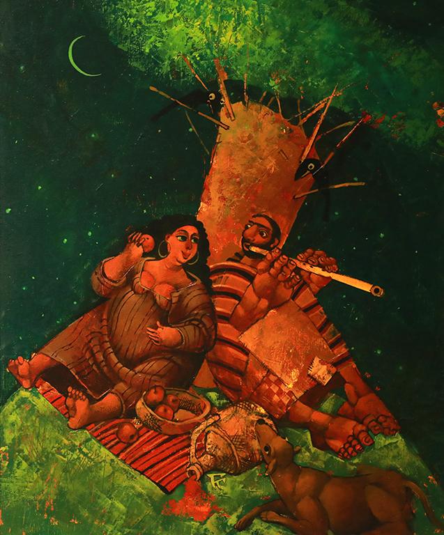 <p>Хармония, 2000 &ndash; 2010 маслени бои, платно</p>