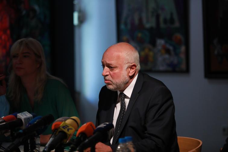 Брифинг служебният министър на културата Велислав Минеков