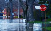 Пороен дъжд във Велико Търново, наводниха се улици