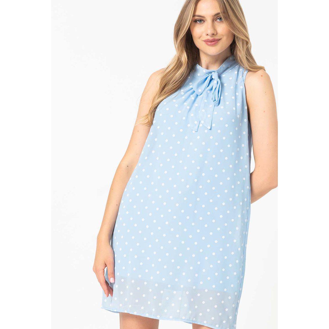 Къса рокля Jasmin с десен на точки