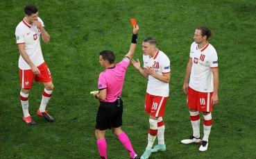 Първият червен картон на UEFA EURO 2020 е факт