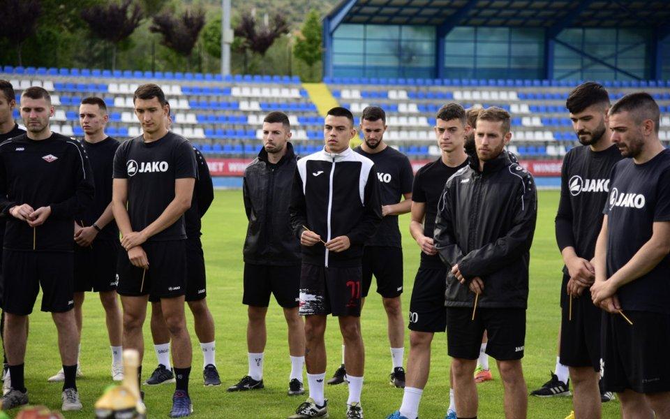 Септември Симитлисе събрана първа тренировка за сезон 21/22. Свещеник благослови