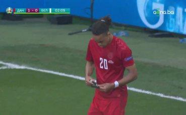 Вдъховени! Дания удари Белгия след само 2 минути игра
