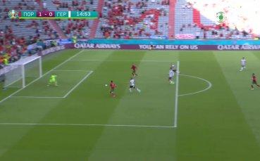 Роналдо изведе Португалия напред с първия си гол срещу Германия