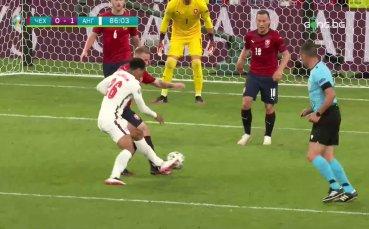Отмениха гол на Англия срещу Чехия