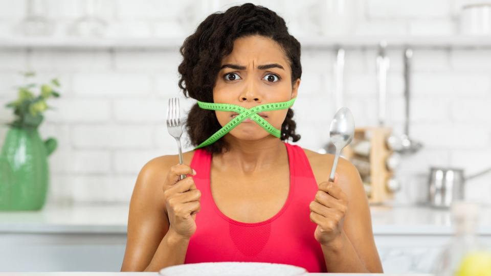 жена глад диета фастинг тегло