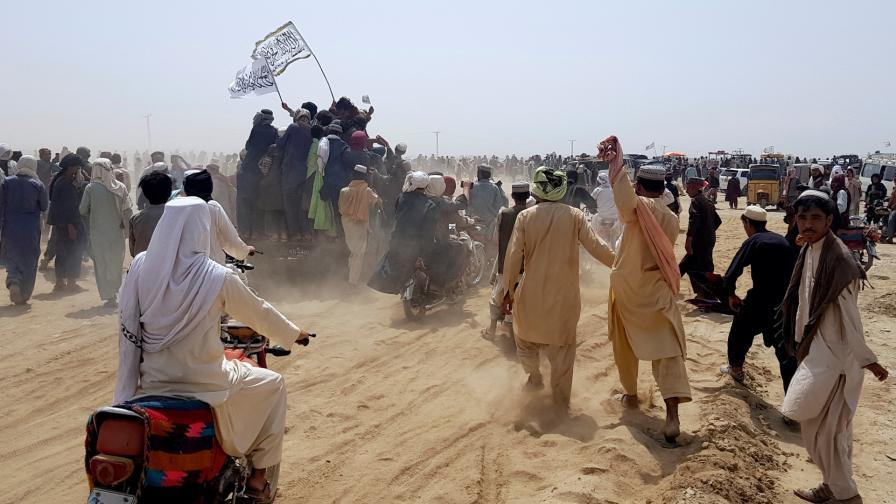 Привърженици на талибаните на границата между Афганистан и Пакистан