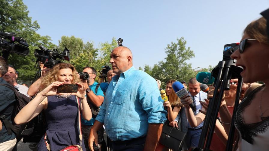 Бойко Борисов се яви на разпит в МВР