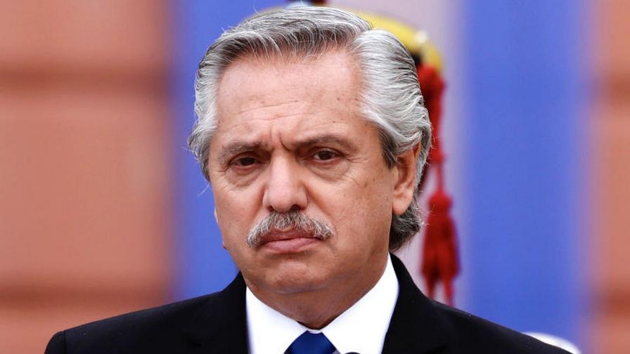 Президентът на Аржентина Алберто Фернандес