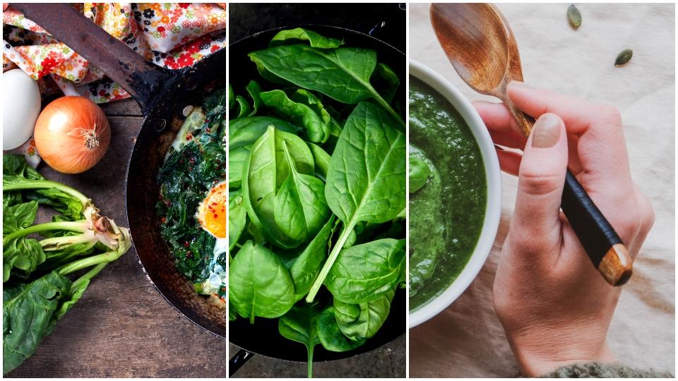 спанак здраве храна зеленчуци