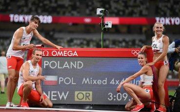 Полша е олимпийски шампион в смесената щафета 4 по 400 метра с рекорд