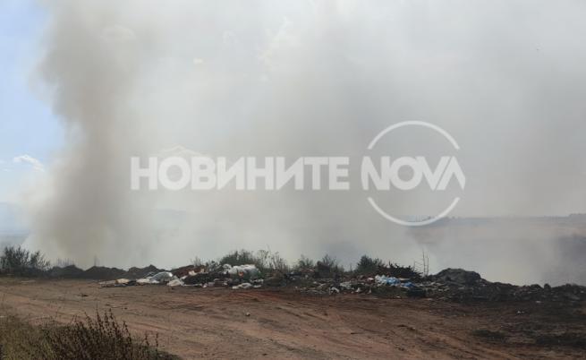 Пожар бушуваше край Кремиковци
