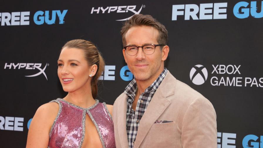 """Блейк Лайвли и Райън Рейнолдс на премиерата на филма """"Free Guy"""""""