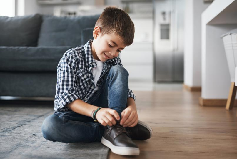 Наръчник на родителя за връзване на обувки
