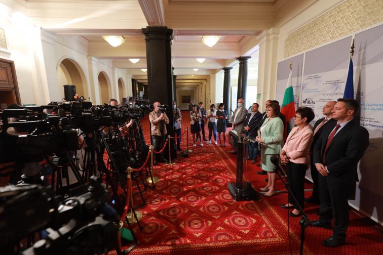 Брифинг на БСП пред журналисти
