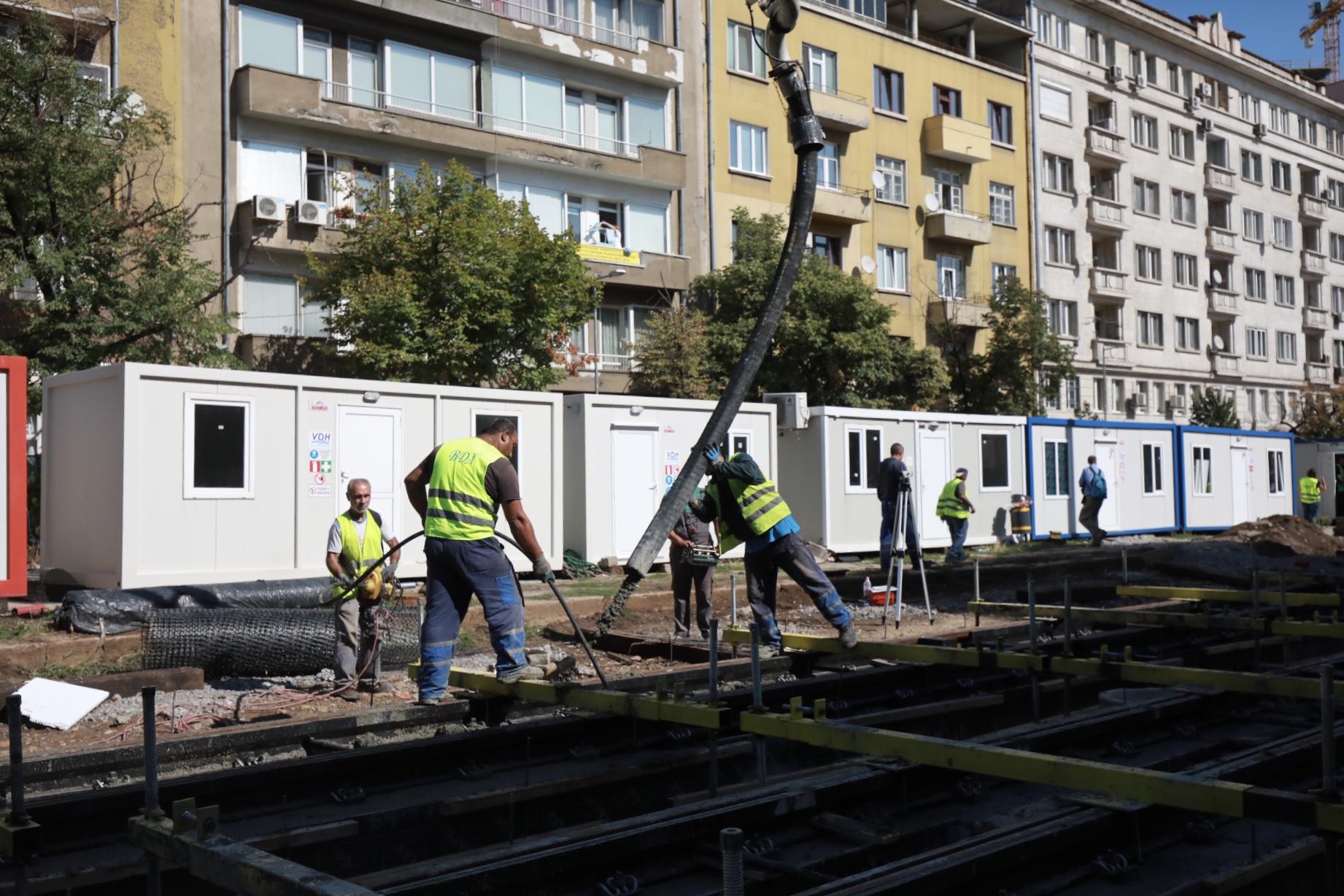 <p>Ремонт на трамвайна линия 5 в София</p>