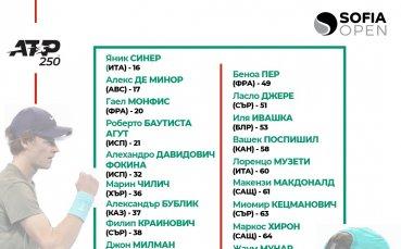 Носител на титла от Големия шлем и още трима от Топ 20 идват на Sofia Open