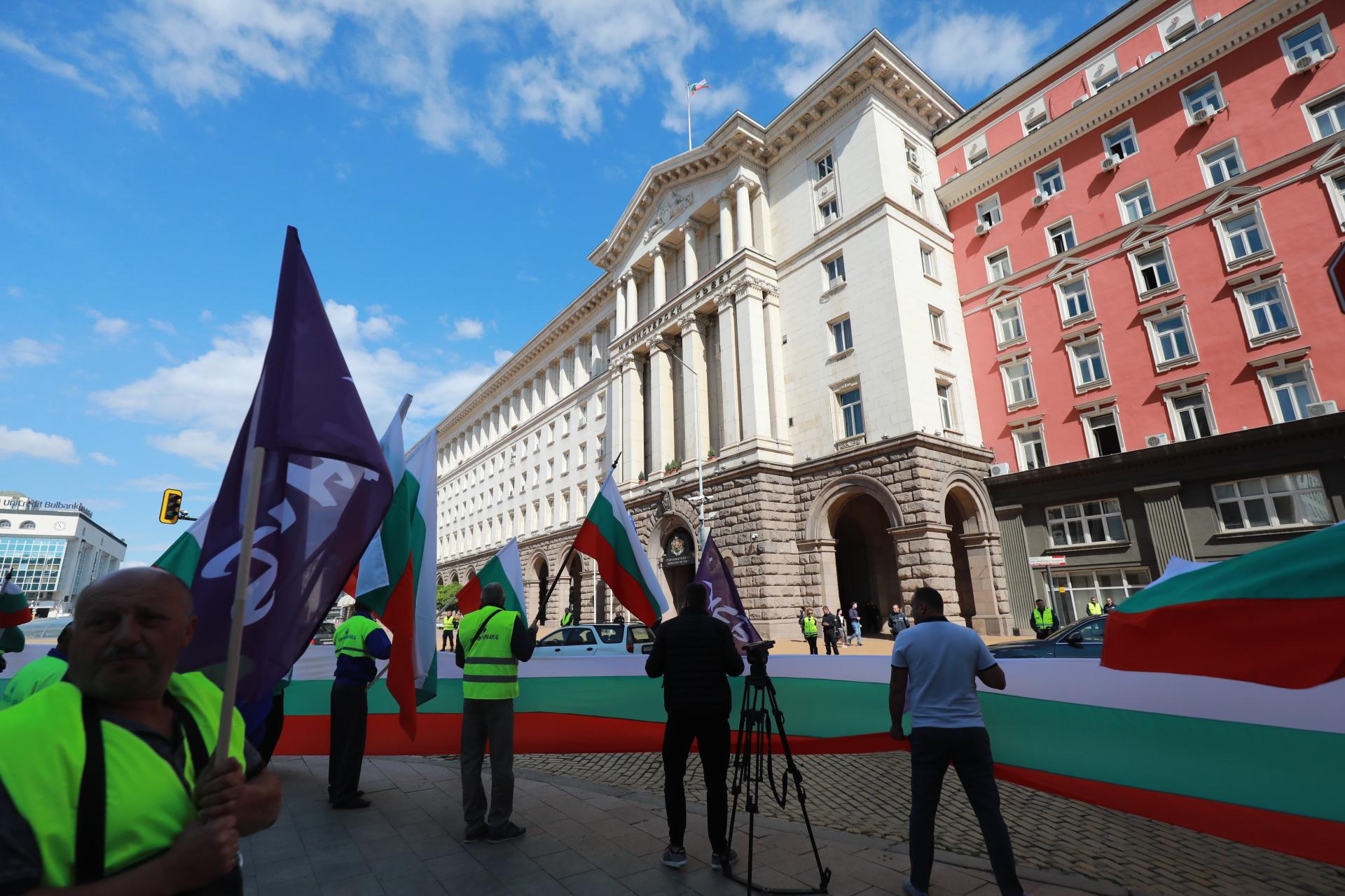 <p>Нов протест на работещите в &bdquo;Автомагистрали - Черно море&rdquo;</p>