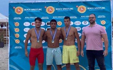 Две титли и сребро за младите ни борци от Евро 2021 по плажна борба