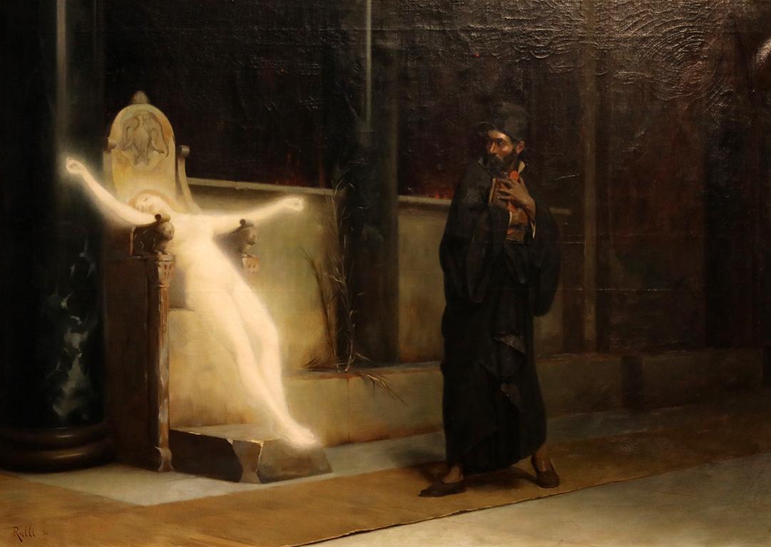 <p>Теодор Рали (1852-1909) Изкушение, 1896 г.</p>  <p>Изложба посветена на 125 години от основаването на Националната художествена академия и нейният първи випуск.</p>