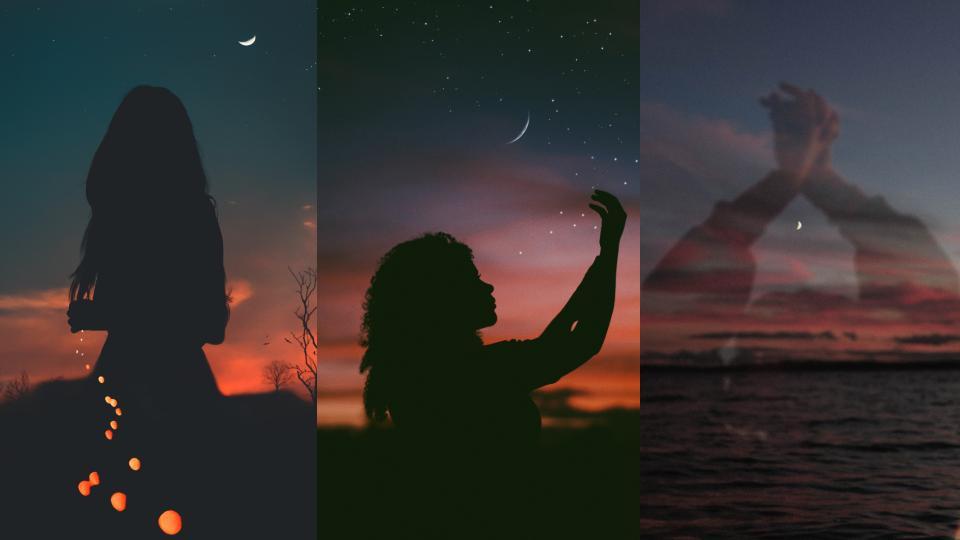 жена луна небе астрология