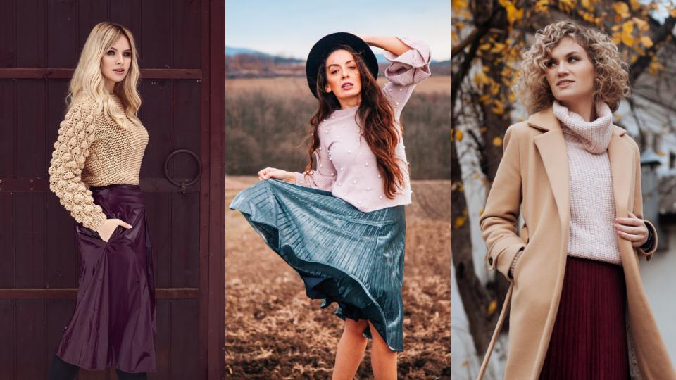 жена есен зима мода пуловер пола