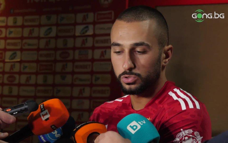 Крилото на ЦСКА Георги Йомов сподели след победата с 3:2