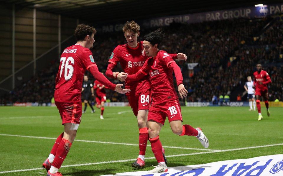 Отборът на Ливърпул се класира за 1/4-финалите на турнира за