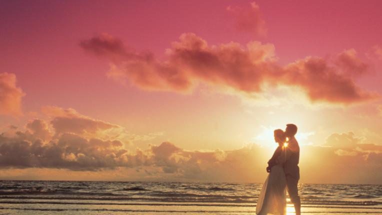 море любов романтика залез влюбени