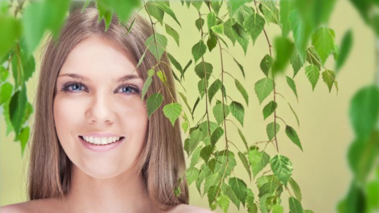 пролет жена красота свежест природа