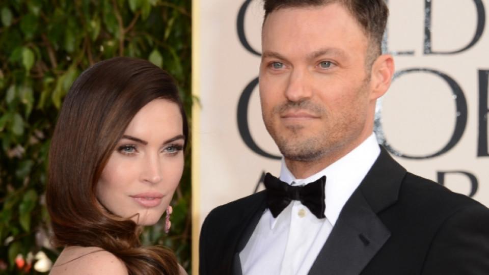 """Меган Фокс и съпругът ѝ Брайън Остин Грийн по време на тазгодишната церемония за раздаване на наградите """"Златен глобус"""", състояла се през януари в Лос Анджелис"""