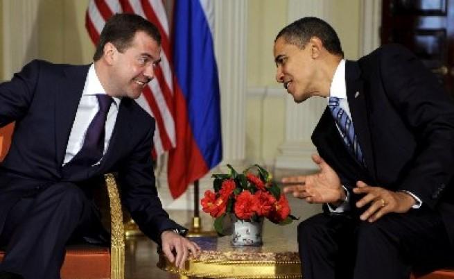 Първа среща Обама - Медведев