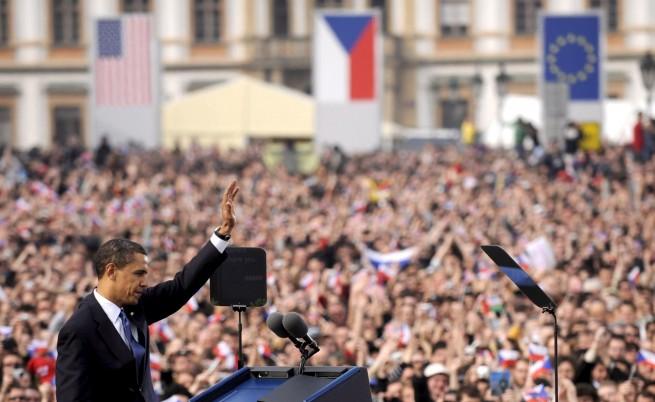 Обама говори за свят без ядрено оръжие в Чехия