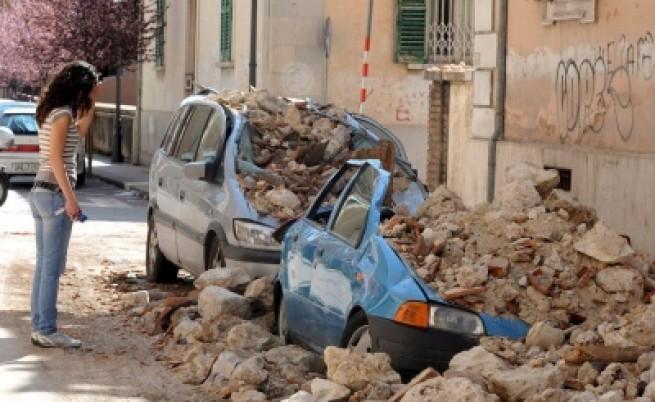Силен вторичен трус в централна Италия